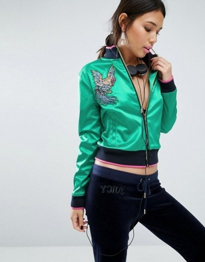 Juicy Couture Satin Bomber Jacket looks awesome! - flipped