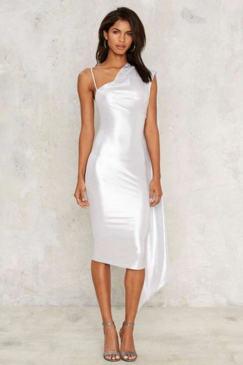 Nasty Gal Foiled Again Midi Dress – would look perfect at any party - flipped