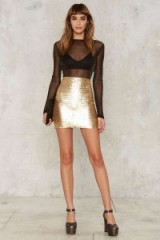 Nasty Gal Roxxanne Sequin Skirt and sheer top from Nasty Gal