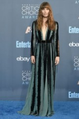 Jessica Biel attends the 2016 Critic's Choice Awards in December, wearing a plunge front Elie Saab gown. Celebrity dresses | star style gowns
