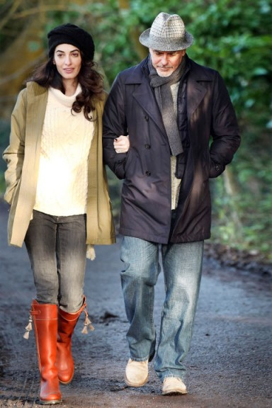 Amal and George…casual country style