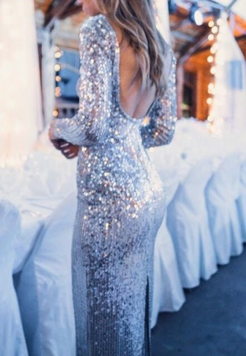 glamorous shimmering gown