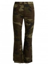 MM6 BY MAISON MARGIELA Camouflage-print flared cropped cotton trousers. Camo prints   casual designer pants   flares   flare leg   military inspired fashion