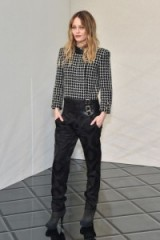 Vanessa Paradis at Chanel Haute Couture SS17. Celebrities at Paris fashion week | French style | front row celebrities