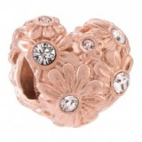 Chamilia Zinnia Heart rose gold-plated crystal charm ~ charms ~ hearts ~ jewellery