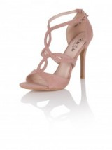 CHI CHI RAYA HEELS ~ evening shoes ~ going out accessories ~ nude high heel sandals