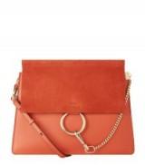 Chloé Medium Faye Sepia Red Shoulder Bag