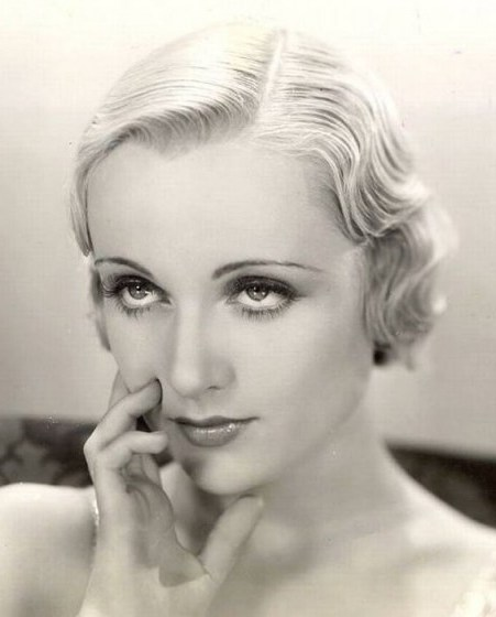 American actress Carole Lombard – 30s vintage hair & beauty – 1930s – beautiful Hollywood women - flipped
