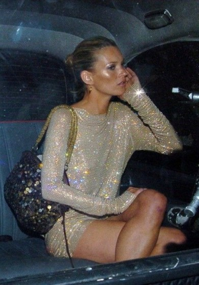 Kate Moss sparkles in a shimmering nude mini dress – glamour & glitz - flipped