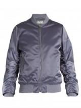 ACNE STUDIOS Leia ruched-sleeve bomber jacket