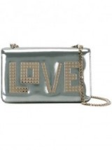 LES PETITS JOUEURS Golden Love Mini Janis metallic leather shoulder bag