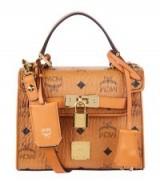 MCM Mini Heritage Satchel – luxury top handle bags – small handbags – designer accessories – leather shoulder bags