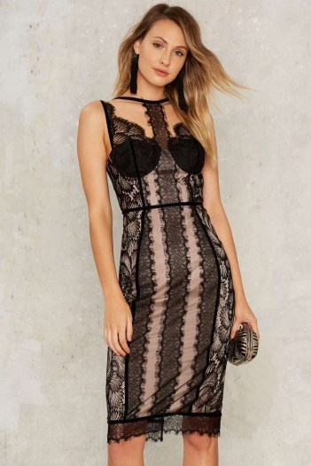 Nasty Gal Dirty Love Lace Dress – party dresses – going out fashion – strappy – choker style – evening chic - flipped