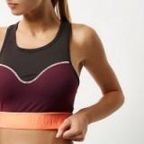 river island – RI Active burgundy block sports bra. Sportswear   gym tops   training bras