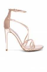 STEVE MADDEN SATIRE HEEL – rose gold high heel sandals – strappy heels – party shoes