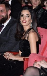 Amal Clooney evening glamour ~ celebrity hair ~ glamorous make-up