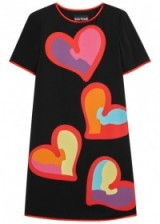 BOUTIQUE MOSCHINO Black heart-print dress ~ shift dresses with printed hearts ~ love colourful designer fashion
