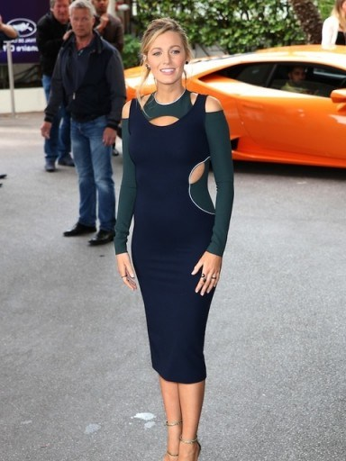 Blake Lively in a cut out bodycon dress at the 2016 Cannes Film Festival - flipped