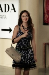 Blair wearing a Louis Vuitton dress and carrying a Prada bag ~ gossip girl fashion ~ dresses and outfits