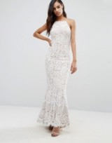 Jarlo Ariel Allover Lace Maxi Dress – ivory bridal gowns – fitted wedding dresses – affordable fairytail wedding