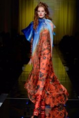 Jean Paul Gaultier Haute Couture S/S 2017 Paris ~ statement fashion ~ runway gowns ~ poppy printed fabric ~ long red dresses ~ luxury designer clothing