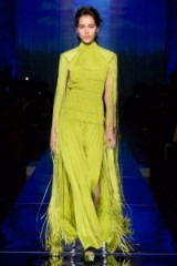 Jean Paul Gaultier Haute Couture S/S 2017 Paris ~ statement fashion ~ luxury runway clothing ~ chartreuse ~ yellow-green ~ chic outfits