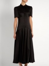 HILLIER BARTLEY Plimpton dropped-waist silk-satin dress ~ luxury dresses ~ stylish fashion ~ chic vintage style