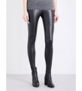 TOPSHOP Percy skinny faux-leather trousers in black