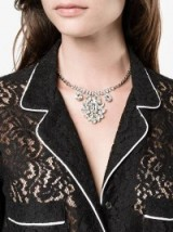 Dolce & Gabbana Crystal Chandelier Necklace ~ clear crystals ~ bling necklaces ~ designer statement jewellery
