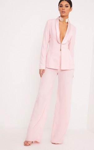 ELNIE BABY PINK WIDE LEG SUIT TROUSERS ~ suit pants ~ trouser suits