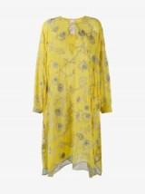 Ashish Yellow Embroidered Kaftan Dress ~ embellished kaftans