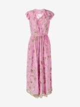 Ashish Pink Embroidered Short Sleeve Dress ~ luxe dresses