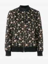 Ashish Black Floral Embroidered Bomber Jacket ~ designer jackets
