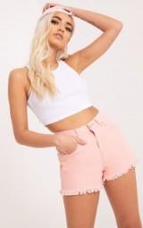 JAYDANNE PINK FRAY EDGE DENIM SHORT ~ frayed shorts