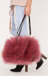 Pretty Little Thing JENA PINK FUR SHOULDER BAG ~ fluffy bags ~ handbags ~ accessories