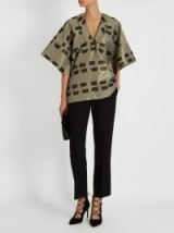 VIVIENNE WESTWOOD ANGLOMANIA Kick Out jacquard kimono top. Wide sleeve tops | oriental style clothing