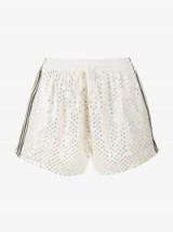 Ashish White Sequin Embellished Shorts