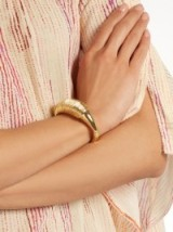 AURÉLIE BIDERMANN Alhambra gold-plated chunky cuff ~ 18kt yellow-gold plated cuffs ~ chic jewellery/bracelets