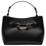 Reiss Broadway Black Leather Tote Bag – stylish bags – chic handbags