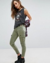 Denim & Supply by Ralph Lauren Cargo Trousers Green. Skinny pants   casual fashion