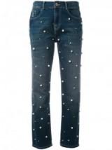 ESSENTIEL ANTWERP pearl embellished straight jeans