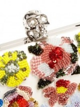 ALEXANDER MCQUEEN Floral-embellished leather box clutch ~ bling bags ~ designer handbags ~ statement accessories