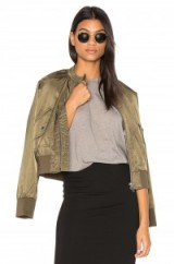 FREE PEOPLE MIDNIGHT BOMBER in MOSS. Casual jackets | outerwear