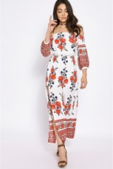 LILIBETH floral bardot dress ~ off the shoulder dresses
