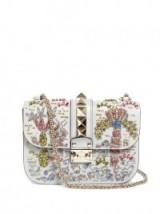VALENTINO Lock medium embellished leather shoulder bag ~ bling bags ~ designer handbags ~ statement accessory