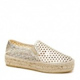 LOEFFLER RANDALL ROWAN ESPADRILLE SLIP-ON SNEAKER. Light gold sneakers | casual flat shoes | sports luxe | metallic espadrilles | chic flats