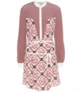 MARY KATRANTZOU Ambrosia printed silk dress ~ mix print designer dresses