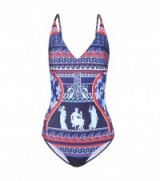 MARY KATRANTZOU Printed one-piece swimsuit ~ printed swimsuits
