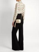 SAINT LAURENT Monogram Blogger gold leather metallic cross-body bag ~ small luxe crossbody ~ mini designer shoulder bags