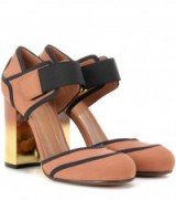 MARNI Mary Jane pumps ~ dusty pink fabric Mary Janes ~ chunky heels ~ high block heel ~ luxe shoes